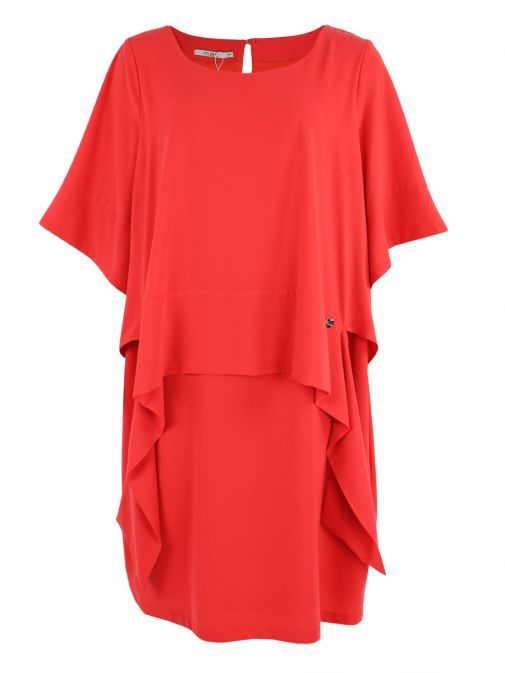 Mat Red Midi Dress