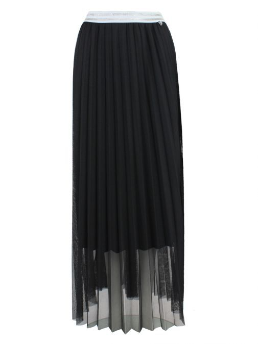 Mat Black Pleated Skirt 711.6002.M BLACK