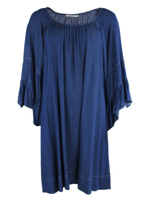 Mat Denim Bell Sleeve Dress 711.7014 DENIM