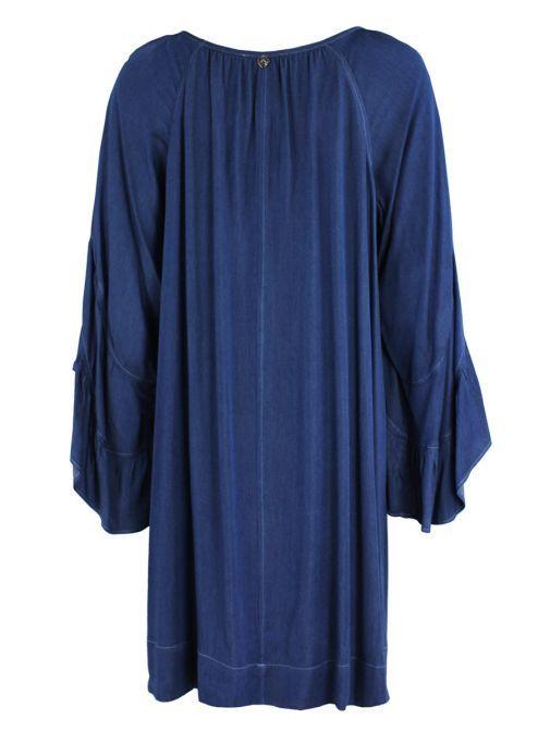 Mat Denim Bell Sleeve Dress