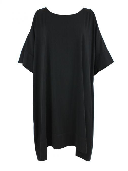 Mat Black Cold Shoulder Dress 711.7038 BLACK