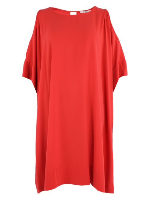 Mat Coral Cold Shoulder Dress 711.7038 CORAL