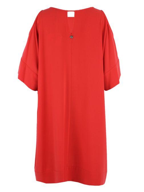 Mat Coral Cold Shoulder Dress