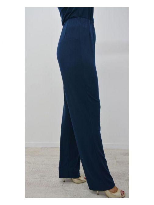 Tia Navy Wide Leg Trousers