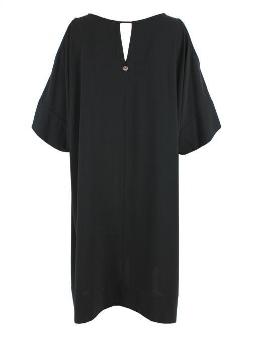 Mat Black Cold Shoulder Dress