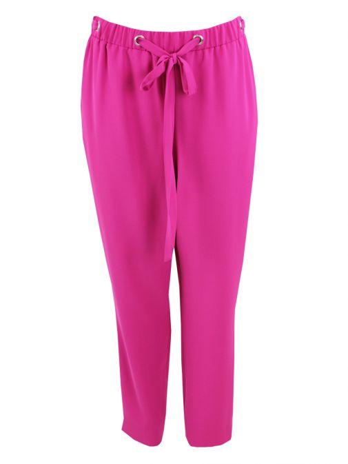 Tia Pink Tie Waist Trousers 71248 55
