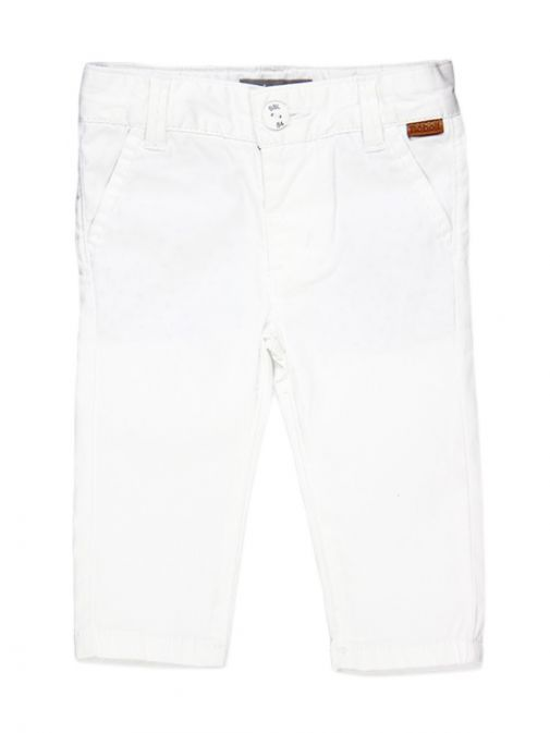 Boboli White Cotton Trousers 713034
