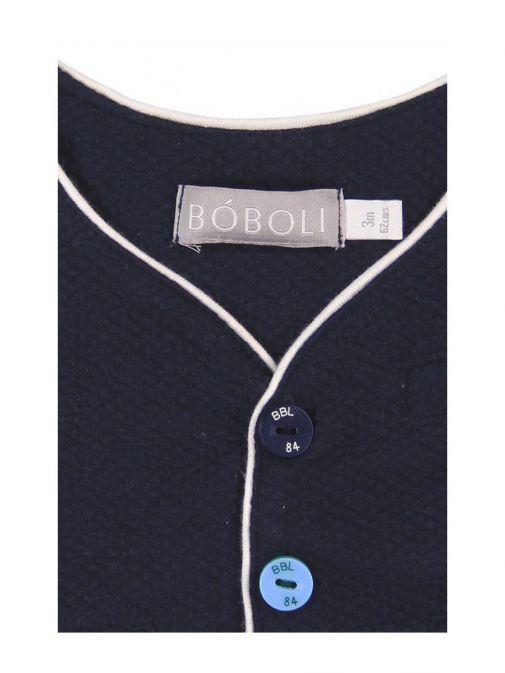 Boboli Navy Waist Coat with White Trim