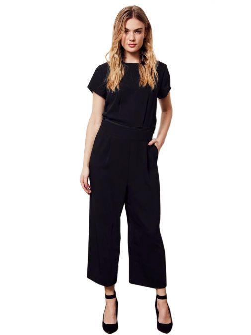 Molly Jo Black Top Overlay Wide Leg Jumpsuit 7145 90