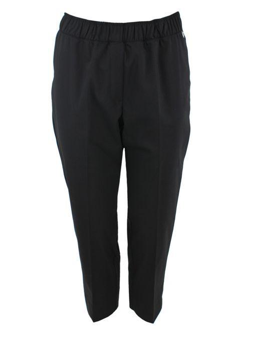 Mat Black Cropped Trousers 718.2523 BLACK
