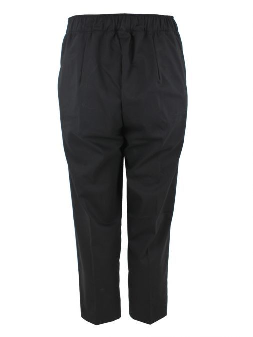 Mat Black Cropped Trousers