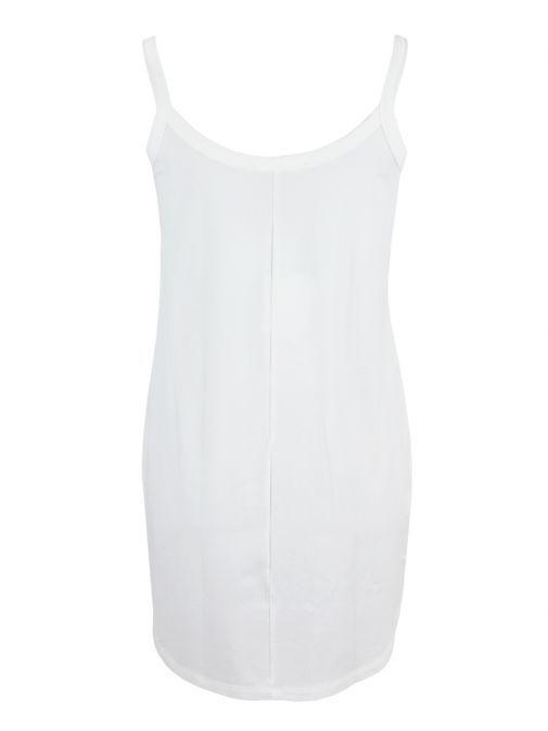 Mat White Vest Top