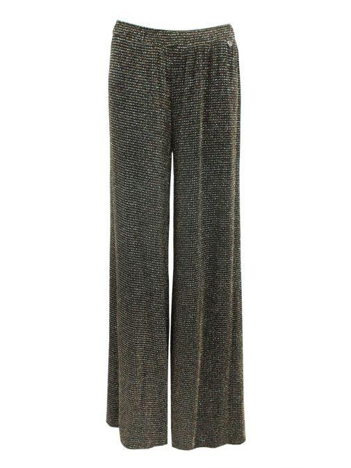 Mat Black Glitter Trousers 7201.2099 BLACK