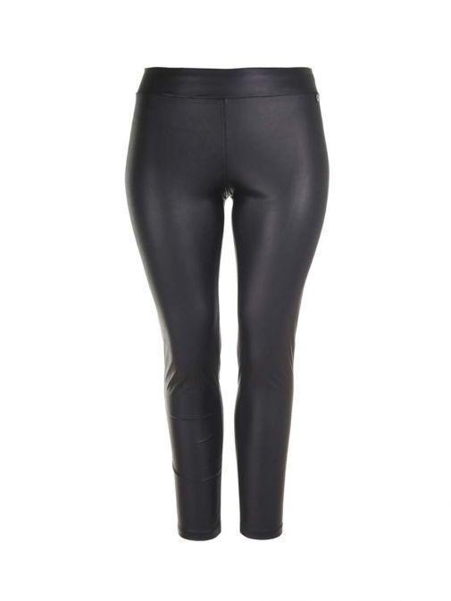 Mat Black Faux Leather Leggings 7201.2106 BLACK