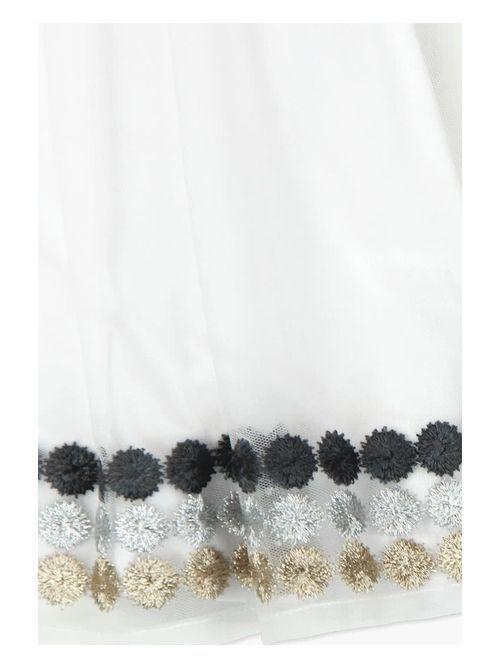 Boboli White Tulle Skirt 725239