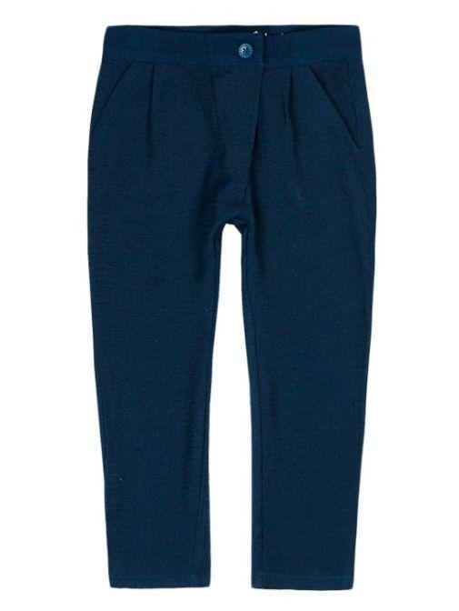 Boboli Navy Blue Fantasy Fabric Trousers