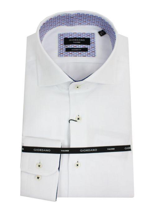 GIORDANO White Modern Fit Shirt 727803 White