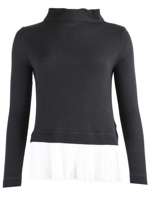 Marella Black & White Pleated Hem Jumper 39760379 04