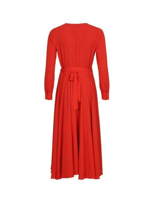 Molly Jo Red Wrap Dress