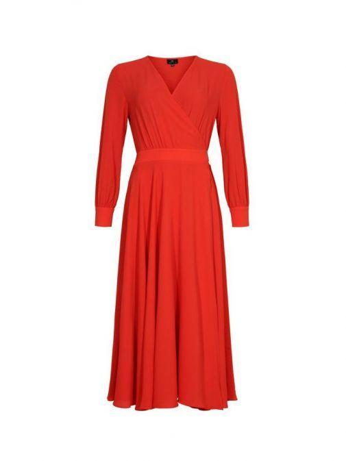 Molly Jo Red Wrap Dress 7815 46