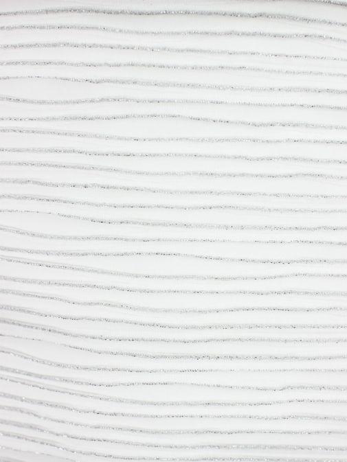 Frank Lyman Off White Silver Fleck Striped Gown