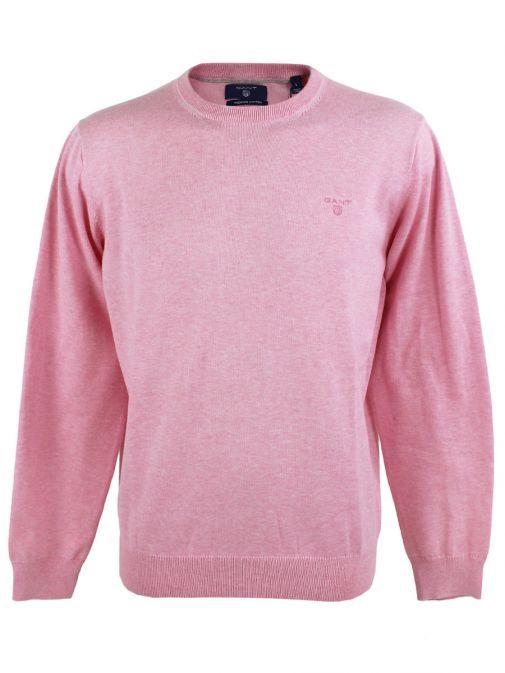 GANT Light Pink Leightweight Crew Neck Jumper 83071 698