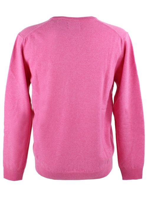 Gant Pink Lightweight Lambswool V-Neck Jumper