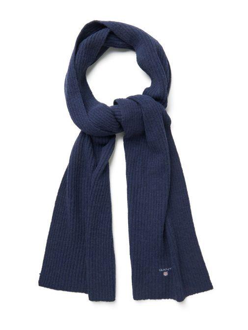 Gant Navy Wool Knit Scarf 9920002 410