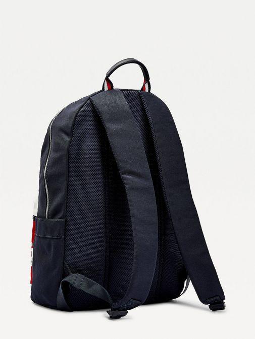 Tommy Hilfiger Men Signature Colour-Blocked Backpack Am0am07378/Dw5-Navy