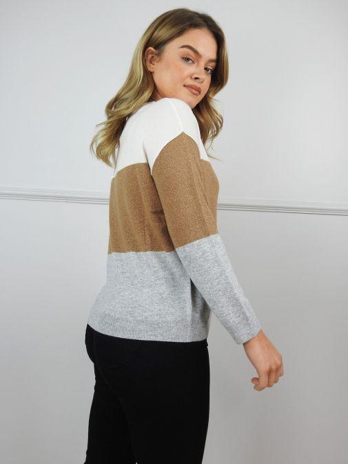 Emme by Marella Natural Bernard Block Colour Sweater BERNARD/006