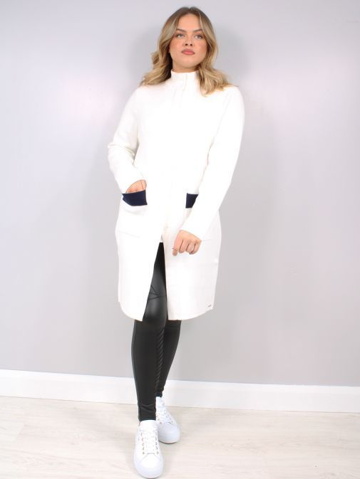 Rino & Pelle Snow White Long Knitted Cardigan Biddy.700S21/0007-Cream