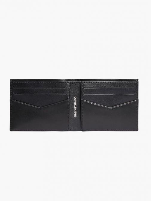 Inside image of Calvin Klein Leather Billfold Wallet in Black