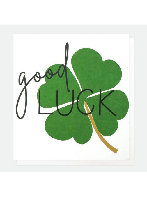 Image of Caroline Gardner Clover Good Luck Card