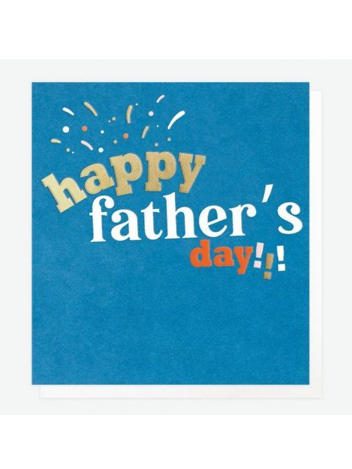 Front shot of the Caroline Gardner Happy Father's Day Card