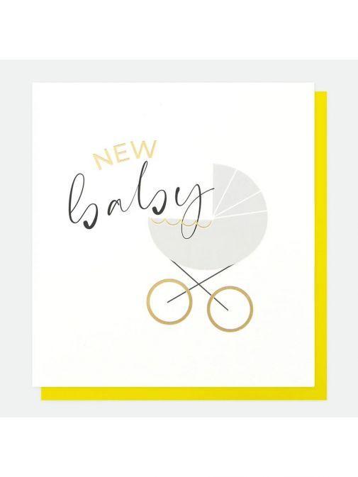 Image of Caroline Gardner Pram New Baby Card