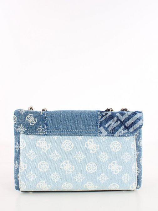 Back image of Cessily Denim Crossbody Bag in Blue Multi
