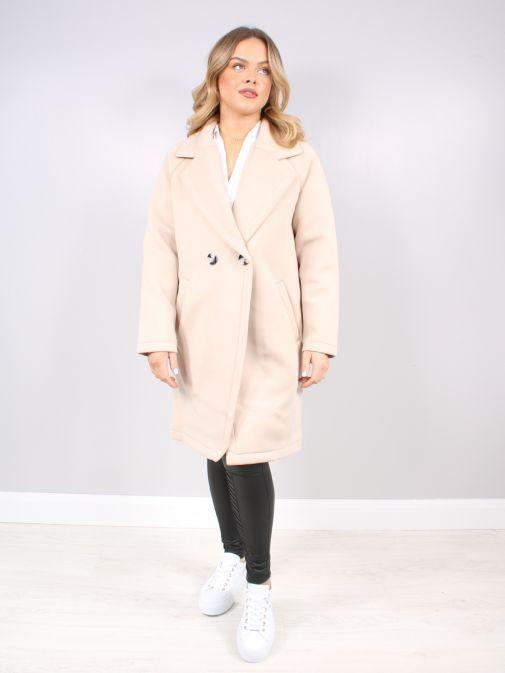 Rino & Pelle Desert Scuba Jersey Coat Delisa.700S21/0090-Beige