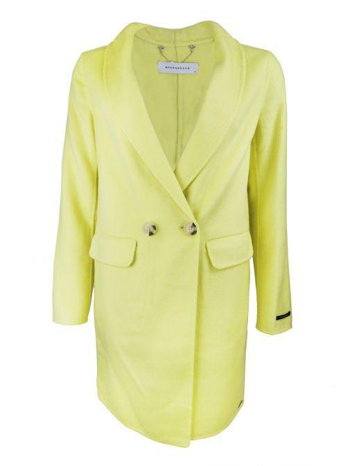 Rino & Pelle Soft Lime Wool Blend Coat ete.700s20