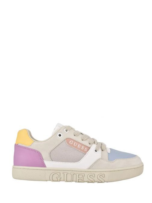 Guess Grey Multi Julien Sneaker with Laminated Insert Fl5jlnesu12/Bonw-Bronze