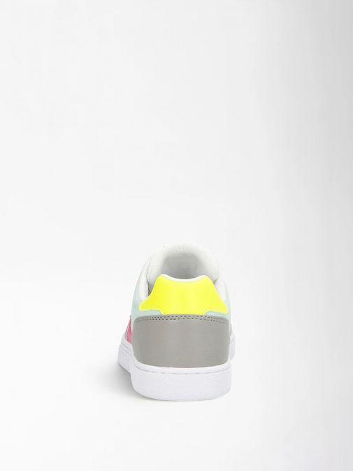 Guess White Multi Julien Sneaker with Laminated Insert Fl5jlnfab12/Pisil-Multi