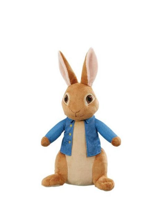 Alternative Front shot of Giant Movie Peter Rabbit Soft Toy