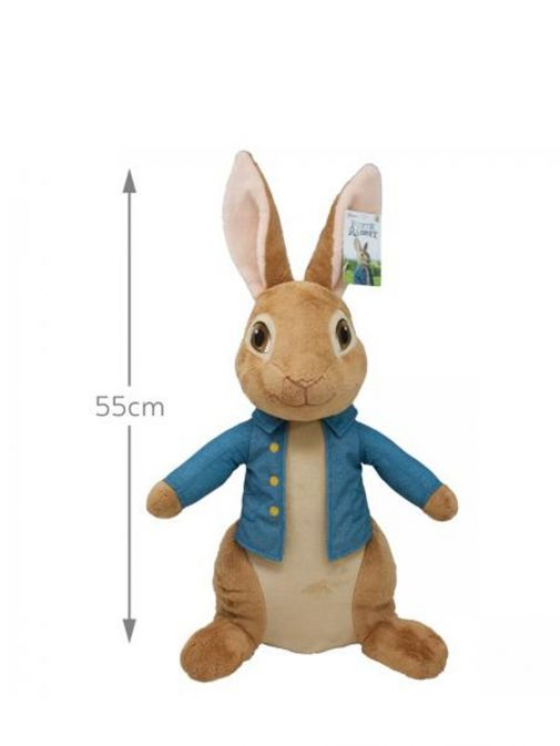 Front shot of Giant Movie Peter Rabbit Soft Toy