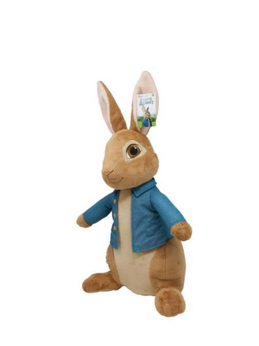 Side shot of Giant Movie Peter Rabbit Soft Toy