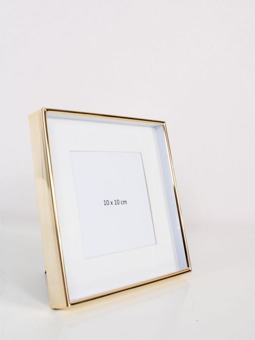 Image of Gold Recessed Square Photo Frame in size 4x4 inches