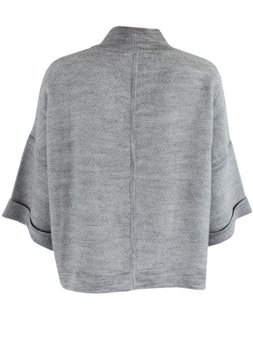 Le Comte Grey Over Sized Cardigan