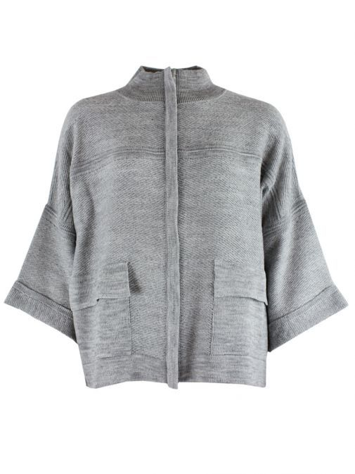 Le Comte Grey Over Sized Cardigan 39-642518 031