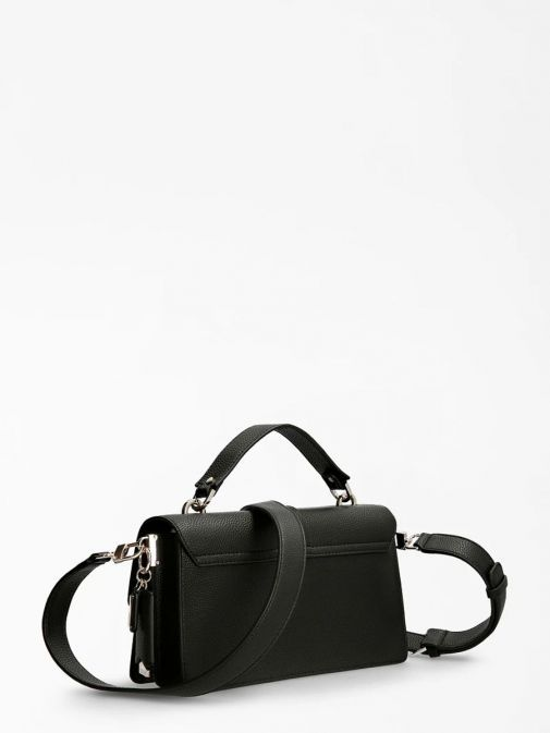 Back image of Guess Albury Handbag with Charm in Black