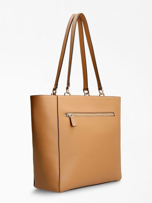 Back image of Guess Albury Shopper with Charm in Caramel