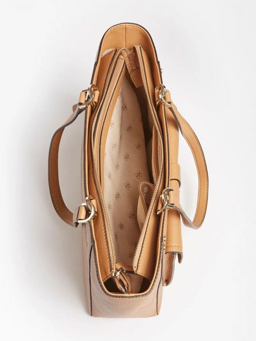 Inside image of Guess Albury Shopper with Charm in Caramel