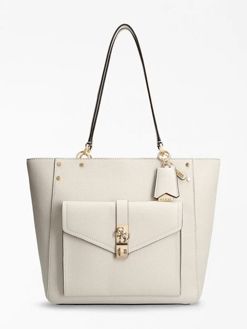 Front image of Guess Albury Shopper with Charm in Stone